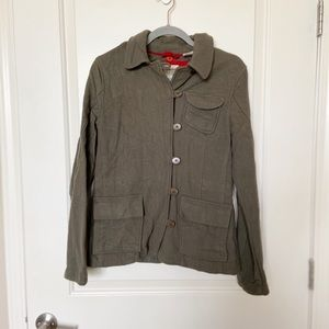 TIMBERLAND •Olive Green Wool Button Up Jacket Sz 6